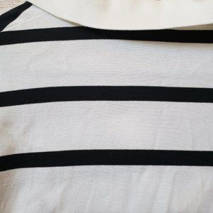 Polo by Ralph Lauren Shirts - Polo Golf Black And White striped (LG)